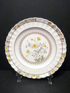 Spode Porcelain Dinner Plate H Buttercup Casual Decor, Kitchenware, Tableware, Buttercup, Dinner Plates, Decorative Plates, Porcelain, Dishes, Antiques