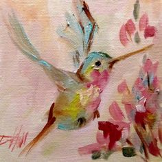 Hummingbird No. 12, painting by artist Delilah Smith