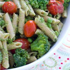 Basil Pesto Pasta made with Fresh Basil Pesto