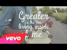 ▶ MercyMe - Greater (Official Lyric Video) - YouTube I LOVE THIS SONG SOOOOO MUCH!!!!!!!!!!!!!!!!!!!! ❤❤❤❤❤❤