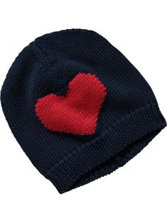 Heart Knit Hats for Baby Product Image