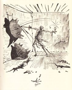Salvador Dalí Illustrates Don Quixote