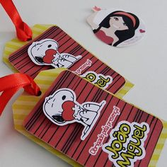 Mimos de papel no tema Snoopy   Crafccino