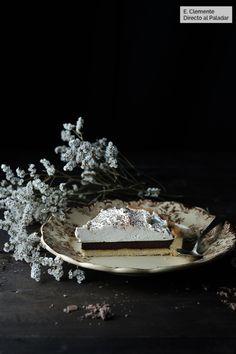 Tarta de chocolate con whisky y chantilly de sirope de arce: receta