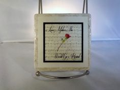 Coaster The Music of Love by TheCoasterMan on Etsy, $8.00