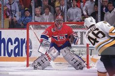 hockey-playoffs-montreal-canadiens-goalie-patrick-roy-in-action-vs-picture-id81346812 (1024×681) Hockey Playoffs, Nhl, Patrick Roy, Montreal Canadiens, Sports Pictures, Ice Hockey, Action, Baseball Cards, Group Action