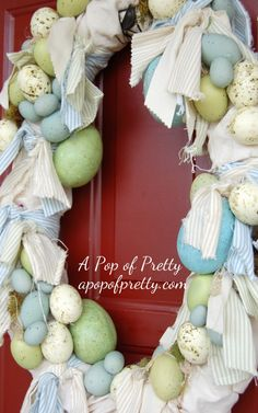 Easter Decorating Ideas: How to make a Shabby Chic Easter Wreath | A Pop of Pretty: Canadian Decorating Blog