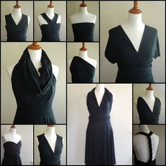 Convertible Dress Options - no pattern, but I like the cowl.