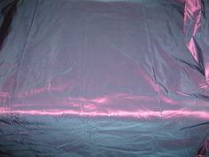 "Pure Silk Taffeta Fabric 60"" Blue with Pink Shot Color | eBay"