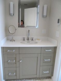 Benjamin Moore's Raccoon Hollow 978 is part of the Classic Color Collection. It works beautifully with pebble flooring.