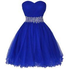 Dresstells Women's Sweetheart Tulle Dress with Rhinestone Prom Dress