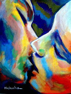 """""""Oneness"""" (2014), pintura da artista argentina Helena Wierzbicki. Veja também: http://semioticas1.blogspot.com.br/2013/06/silencio-de-hopper.html"""