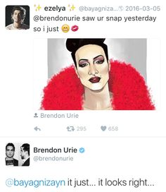 march 4th ✧ brendon urie on twitter, abour drizella cocaine