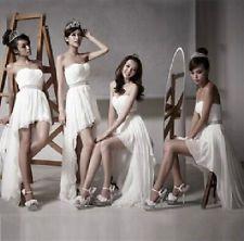 Strapless Evening Prom Party Wedding Bridesmaid Dress Club Dress Asymmetric C123