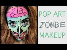 Pop Art Zombie MakeUp - YouTube