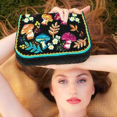Mary Frances Handbags, Embroidery Bags, Crossbody Clutch, Beautiful Bags, Cross Body Handbags, Purses And Handbags, Paisley, Stuffed Mushrooms, Coin Purse