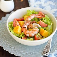 Salata cu creveti si mango - www.Foodstory.ro