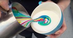 Featured Image for Brisbane barista makes coffee even better with rainbow latte art