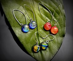fused glass earrings!