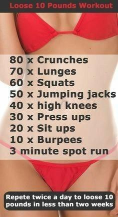 Lose Fat Fast - How To Lose 10 Pounds in A Week (A Simple 7 Day Plan) Wonder if this works. diet workout 10 pounds - Do this simple 2 -minute ritual to lose 1 pound of belly fat every 72 hours Fitness Workouts, Sport Fitness, At Home Workouts, Fitness Motivation, Health Fitness, Fitness Weightloss, Yoga Fitness, Ab Workouts, Fitness Shirts