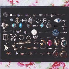 some of my rings @leannelimwalker