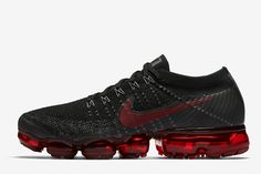 "Release Date and Where to buy Nike Air VaporMax Flyknit ""Black/Dark Team Red"" Ankle Sneakers, Sneakers Mode, Nike Shoes Air Force, Nike Air Vapormax, Sneakers Fashion Outfits, Nike Fashion, Men's Outfits, Nike Officiel, Air Jordan"