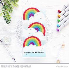 Rainbow Rainbow Card, Love Rainbow, Angel Cards, Mft Stamps, Color Stripes, Kids Cards, Letterpress, I Card, Xmas
