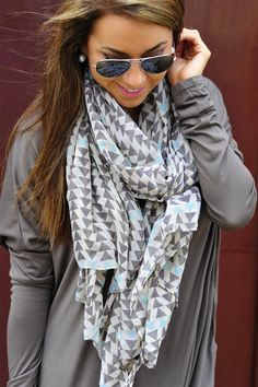 fashions's save of Play It Again Scarf: Grey/Multi | Hope's on Wanelo