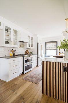 Kitchen Nook, Diy Kitchen, Kitchen Decor, Kitchen Design, Kitchen Storage, White Bathroom Tiles, Open Concept Great Room, The Tile Shop, Tile Design