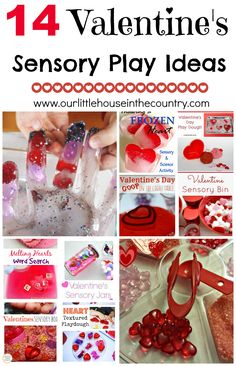 14 Valentines' Day Sensory Play Ideas - Our Little House in the Country