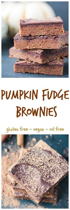 Pumpkin Fudge Brownies - super soft, moist, and fudgy Pumpkin Brownies. The perfect balance of chocolate and pumpkin spice. My kids are obsessed with these!