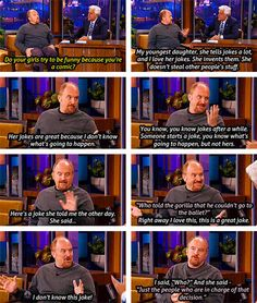 Louis CK's daughter tells an anti-joke…
