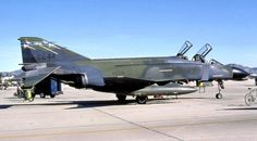 McDonnell F-4C-20-MC Phantom II of the 196th Tactical Fighter Squadron, 193rd Tactical Fighter Wing, California Air National Guard, at March Air Force Base, California, ca. 1987. This is similar to the F-4C flown by Captain Martin