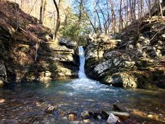 Caney Creek Falls in Ouachita National Forest Arkansas [OC] [4032x3024]