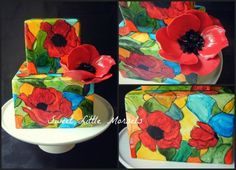 Stained Glass Poppy Cake