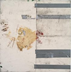 OSCAR MURILLO Untitled (synthetic trash paintings), 2012 tape, oilstick, dirt on canvas 82 x 80 cm (32 1/4 x 31 1/2 in.) Signed and dated 'Oscar Murillo '12' on the reverse. via PHILLIPS : Contemporary Art Day, London Auction 16 October 2014 2pm,