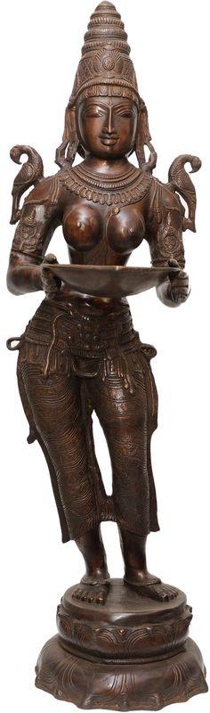 Deeplakshmi with Parrot on Shoulders