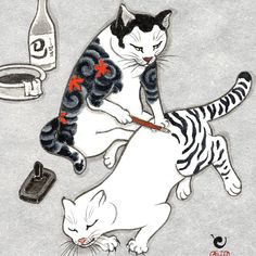 TEBORI CATS, by Kazuaki Kitamura (aka Horitomo)