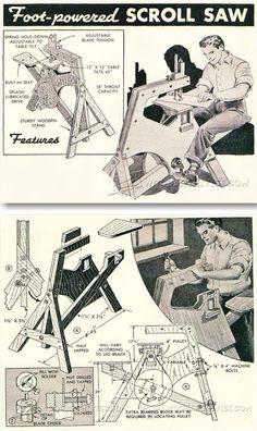 Foot Treadle Scroll Saw Plan - Scroll Saw Tips, Jigs and Fixtures | WoodArchivist.com
