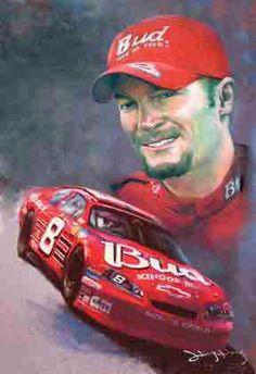 Dale Earnhardt Jr Race Car | Dale Earnhardt Jr. Art Print Picture, Dale Earnhardt Jr. poster ...