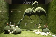visual display windows | ... windows displays Paris Hermès green spring windows displays, Paris
