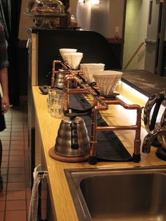 Pour-over stand.
