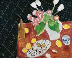 Henri Matisse Tulpen Und Austern Vor Schwarzem Hintergrund 1943 Henri Matisse Matisse Kunst Matisse