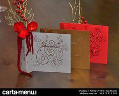 Centros de mesa para Restaurantes Navidad Carta-menu.com