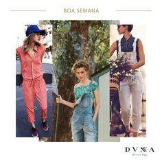 Seja jeans, passeio ou esportivo, o macacão veio pra ficar em mais uma temporada e a DVNNA amou.  Invista já! #lookdvnna