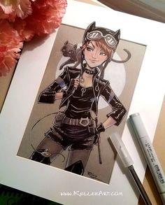 Teen Catwoman by KelleeArt on DeviantArt