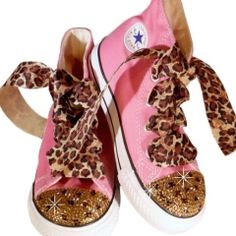 Cheetah Swarovski Shoes $80.00