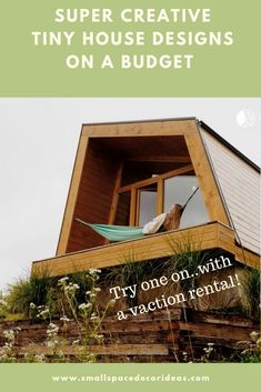 Not sure if you'd like a tiny house? Find a cool vacation rental to try on for size. Small Space Solutions, Storage Solutions, Tiny House Design, Try On, Small Spaces, Cabin, Vacation, Cool Stuff, House Styles