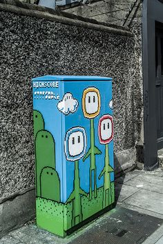Art by Starman on a control cabinet for a traffic light in Dublin, Ireland - photo by William Murphy (infomatique), via Flickr