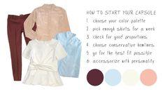 How to Make a 30-Day Work Capsule Wardrobe via @stylebookapp